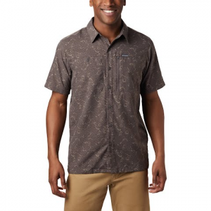 Columbia Men ' S Pilsner Peak Print Ii Short Sleeve Shirt - Mineshaft Dashed Geo Print