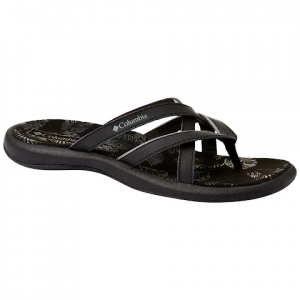 Columbia Women ' S Kambi Ii Flip Sandal - Black / Ti Grey Steel