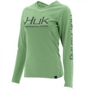 Huk Women ' S Icon Long Sleeve - Key Lime