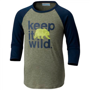 Columbia Youth Outdoor Elements 3 / 4 Sleeve Shirt - Cypress Wild Graphic