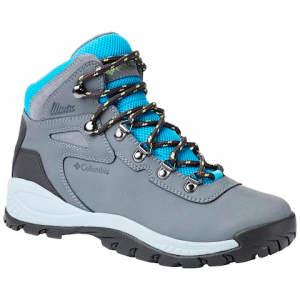 Columbia Women ' S Newton Ridge Plus Waterproof Hiking Boot - Grey Ash / Riptide
