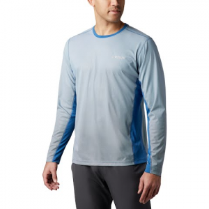 Columbia Men ' S Solar Chill 2 . 0 Long Sleeve Shirt - Impulse Blue