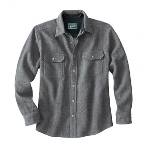 Woolrich Men ' S Wool Alaskan Shirt - New Grey