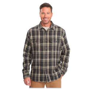 Woolrich Men ' S Oxbow Bend Flannel Shirt - Coal