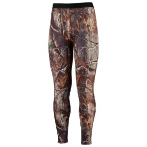 Columbia Men ' S Phg Omni - Heat Camo Base Layer Midweight Tight - Real Tree Ap
