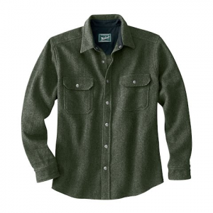 Woolrich Men ' S Wool Alaskan Shirt - Olive