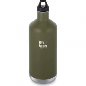 Klean Kanteen 64oz Insulated Classic Water Bottle With Leakproof Loop Cap - Fresh Pine