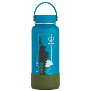 Hydro Flask National Park Foundation Limited Edition 32 Oz Wide Mouth Water Bottle - Olympic