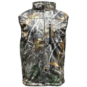 Pursuit Gear Men ' S Quest Camo Softshell Vest – Realtree Edge