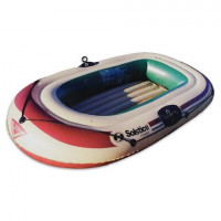 Solstice Voyager 2 Person Inflatable Boat With Pump And Oars