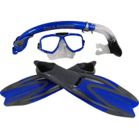 Us Divers Adult Potpourri Silicone Mask , Snorkel And Fins Set - Assorted