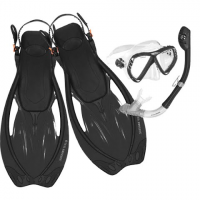 Us Divers Adult Regal Lx / Tucson / Premium Fins Snorkeling Combo - Black