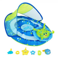 Swim Ways Baby Spring Float Activity Center With Canopy