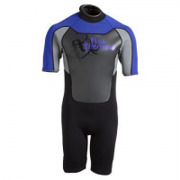 Full Throttle Adult Shorty Wetsuit - Blue / Gray