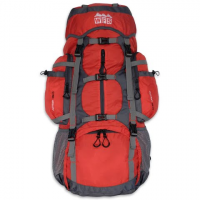 World Famous Action 55l + 5l Internal Frame Backpack - Red