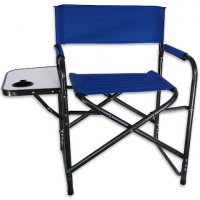 World Famous Directors Chair With Side Table - Blue