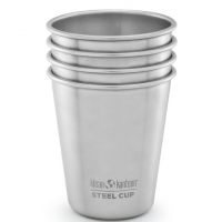 Klean Kanteen 10oz Kanteen Steel Cup ( 4pack ) - Brushed Stainless