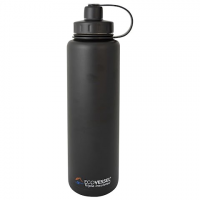 Eco Vessel Bigfoot Insulated Stainless Steel Water Bottle With Tea , Fruit , Ice Infuser 45 - Black
