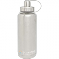 Eco Vessel Boulder 32oz Insulated Bottle - Silver Express