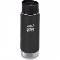 Klean Kanteen 16oz Insulated Wide Bottle With Cafe Cap - Shale Black