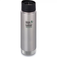 Klean Kanteen 20oz Insulated Wide Bottle With Cafe Cap - Brushed Steel