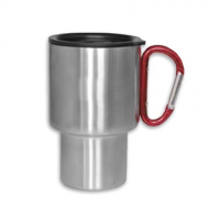 A . G . S . Labs Stainless Steel Carabiner Travel Mug - Red