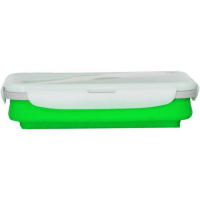 Eco Vessel Collapsible Silicone Single Compartment Lunchbox - Green