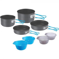 Stansport 4 - Person Hard Anodized Cook Set