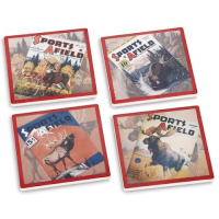 Big Sky Carvers Sports Afield Big Game Coasters ( Set Of 4 )