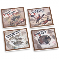 Big Sky Carvers Sports Afield Upland Bird Coasters ( Set Of 4 )