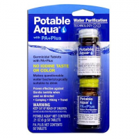 Potable Aqua Water Purification Tablets With P . A . Plus