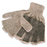 Grand Sierra Mens Ragg Wool Fingerless Gloves - Natural