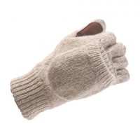 Hot Fingers Men's Rebel Ragg Wool Glomitt - Oatmeal