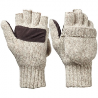Hot Shot Mens Insulated Ragg Wool Pop - Top Mittens - Oatmeal