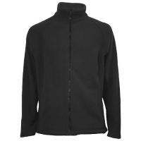 M T Mountaineering Mens Double Knit Fleece Jacket - Black