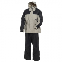 Onyx 20mm Pvc / Nylon Rainsuit - Stone / Black