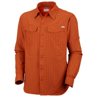 Columbia Mens Silver Ridge Plaid Long Sleeve Shirt - Heatwave