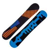 Firefly Mens Spoon Snowboard - Black / Blue / Orange