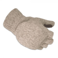 Hot Fingers Ragg Wool Glomitt - Grey
