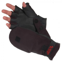 Image of Glacier Glove Alaska River Flip Mitt - Black