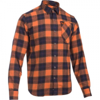 Under Armour Mountain Men's Borderland Flannel - Rodeo Orange