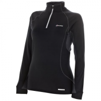 Berghaus Women's Active Thermal Long Sleeve Zip Neck Tee - Black