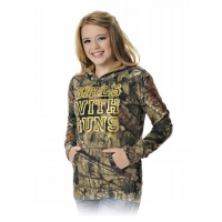 Girls With Guns Women's Glitter Gwg Pullover Hoodie - Mossy Oak Break Up Country