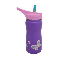 Eco Vessel Frost Triple Insulated Stainless Steel Water Bottle With Flip Spout 13 Oz - Purple