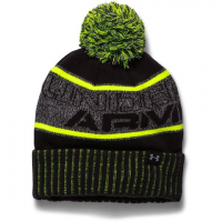 Under Armour Mountain Boy's Youth Pom Beanie - Steel