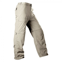 Image of White Sierra Mens Trail Convertible Pant - Stone