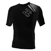 Billabong Mens Pxf S / S Rashguard - Black