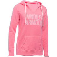 Image of Under Armour Women's Favorite Fleece Popover - Word Mark - Knock Out
