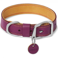 Ruff Wear Frisco Leather Collar - Wild Plum Purple