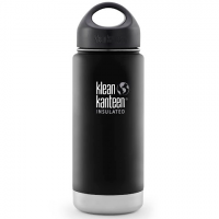 Klean Kanteen 16oz Wide Vacuum Insulated Water Bottle - Shaleblk